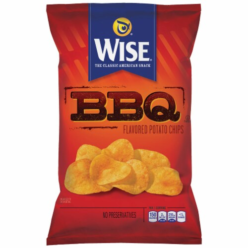 Wise BBQ Flavored Potato Chips Perspective: front