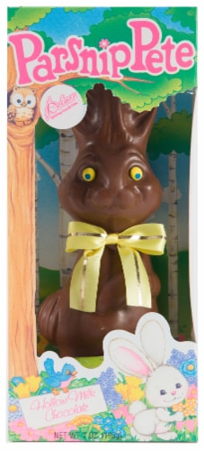 R.M. Palmer Parsnip Pete Hollow Milk Chocolate Bunny Perspective: front