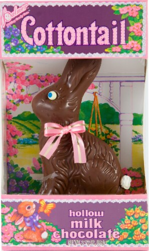Palmer Milk Chocolate Cottontail Easter Candy Perspective: front