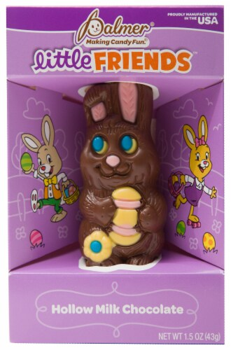 R.M. Palmer Little Friends Milk Chocolate Bunny Perspective: front