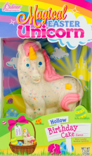 Palmer Birthday Cake Flavored Hallow White Chocolate Magical Easter Unicorn Perspective: front