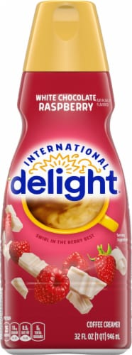 International Delight White Chocolate Raspberry Coffee Creamer Perspective: front