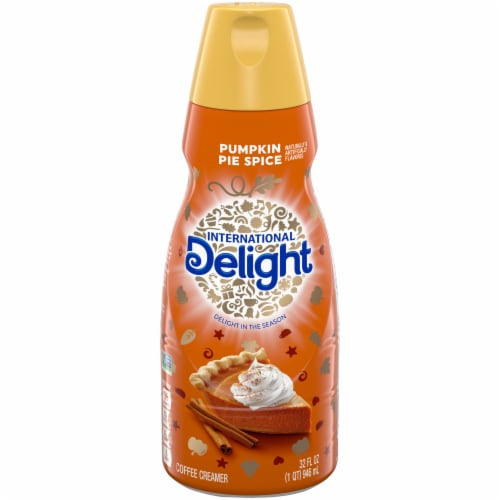 International Delight Pumpkin Pie Spice Coffee Creamer Perspective: front