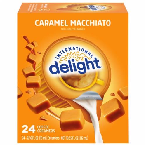 International Delight Caramel Macchiato Creamer Singles 24 Count Perspective: front