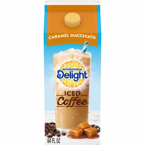 International Delight Caramel Macchiato Iced Coffee Perspective: front