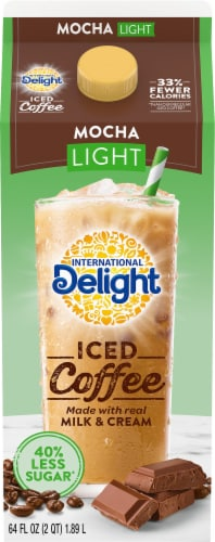 International Delight Mocha Light Iced Coffee Perspective: front