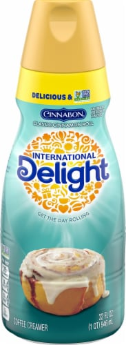 International Delight Cinnabon Classic Cinnamon Roll Coffee Creamer Perspective: front