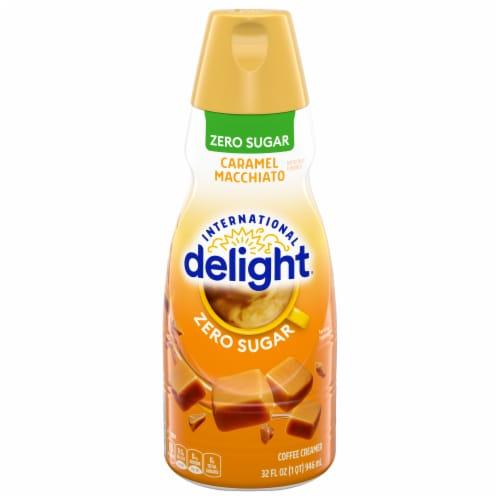 International Delight Zero Sugar Caramel Macchiato Coffee Creamer Perspective: front