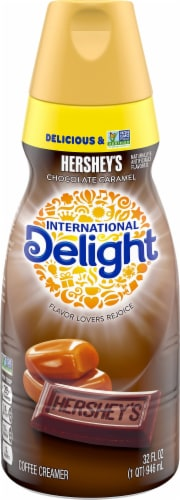 International Delight Hershey's Chocolate Caramel Coffee Creamer Perspective: front