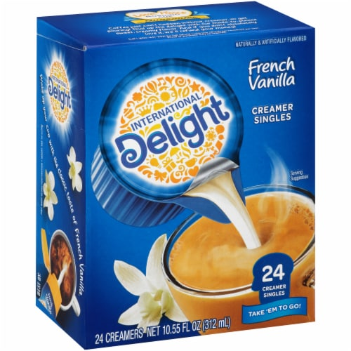 International Delight French Vanilla Coffee Creamer Singles Perspective: front