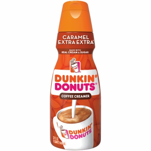 Dunkin' Donuts Caramel Extra Extra Coffee Creamer Perspective: front