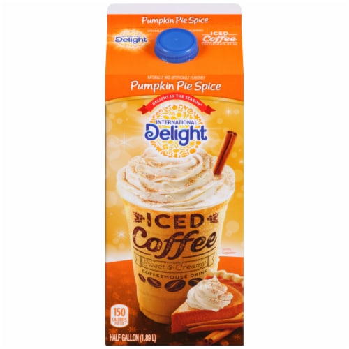 International Delight Pumpkin Pie E Iced Coffee Image Perspective Front