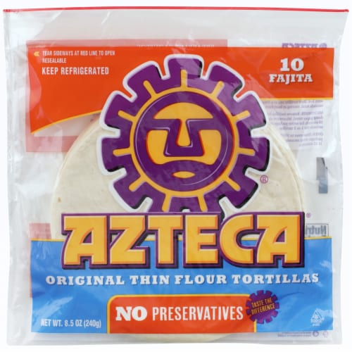 Azteca Flour Tortillas Soft Taco Shells 10 Count Perspective: front