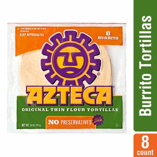 Azteca Burrito Flour Tortillas Perspective: front
