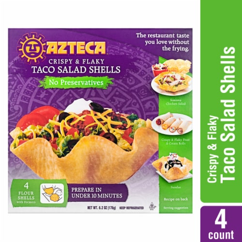 Azteca® Bake & Fill Crispy & Flakey Taco Salad Shells with Formers Perspective: front