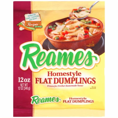 Reames Homestyle Flat Dumplings Perspective: front