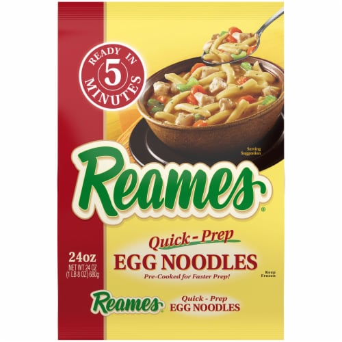 Reames Quick-Prep Egg Noodles Perspective: front