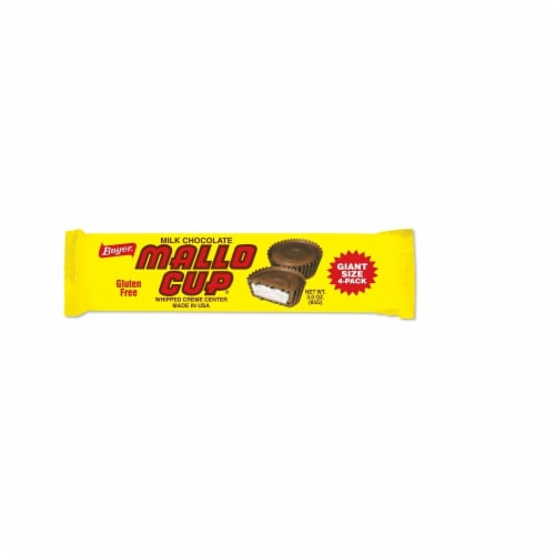 Boyer Milk Chocolate Mallo Cup Giant Size Perspective: front