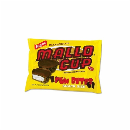 Boyer Snack Size Milk Chocolate Mallo Cup Fun Bites Perspective: front