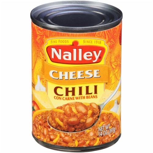 Nalley Cheese Chili Con Carne with Beans Perspective: front