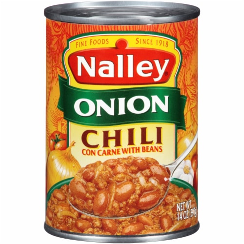 Nalley Onion Chili con Carne with Beans Perspective: front