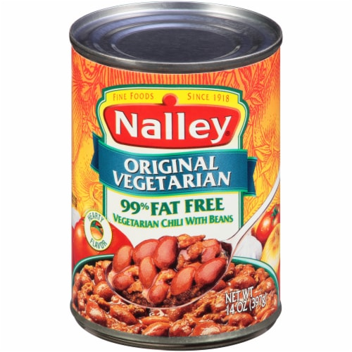 Nalley Original Vegetarian 99% Fat Free Chili with Beans Perspective: front