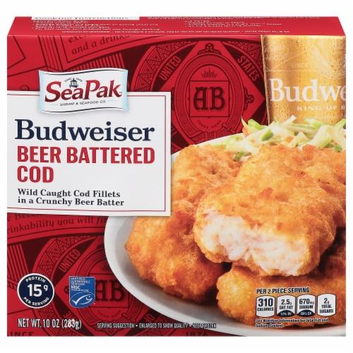 SeaPak Budweiser Beer Battered Cod Fillets Perspective: front