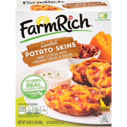 Farm Rich Loaded Potato Skins Perspective: front
