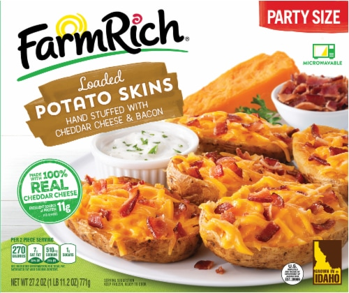 Farm Rich® Loaded Potato Skins Party Size Perspective: front
