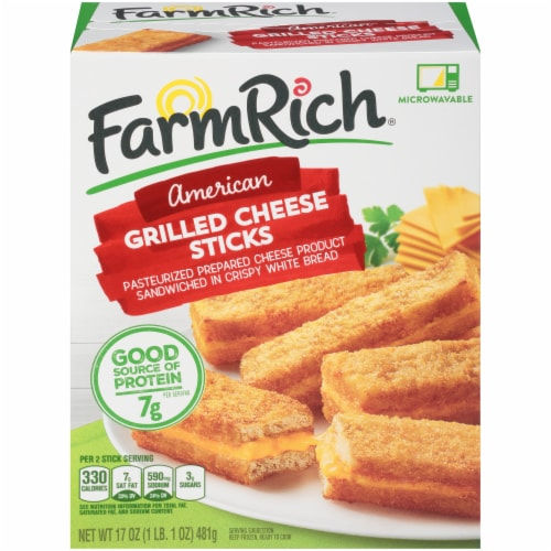 Farm Rich American Grilled Cheese Sticks Perspective: front