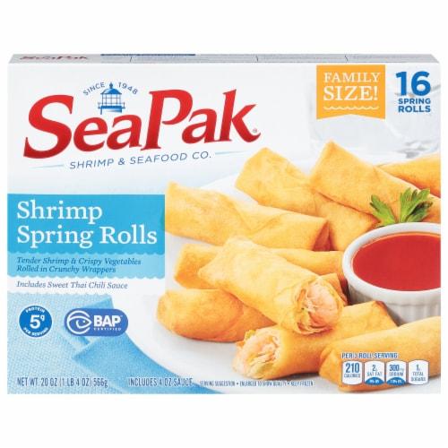SeaPak Shrimp Spring Rolls Perspective: front