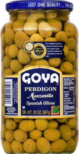 Goya Perdigon Manzanilla Spanish Olives Perspective: front