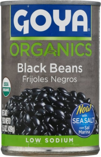 Goya Organic Black Beans Perspective: front