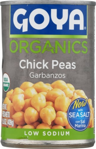 Goya Organic Chick Peas Garbanzos Perspective: front