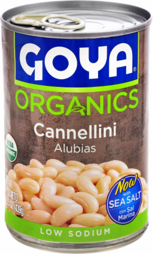 Goya Organics Low Sodium Cannellini Beans Perspective: front