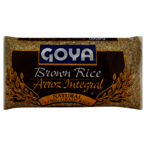 Goya Natural Long Grain Brown Rice Perspective: front