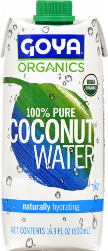 Goya Organics 100% Pure Coconut Water Perspective: front