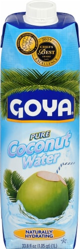 Goya 100% Pure Coconut Water Perspective: front