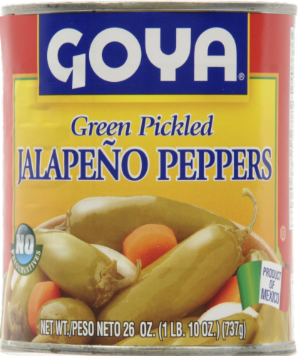 Goya Green Pickled Jalapeno Peppers Perspective: front