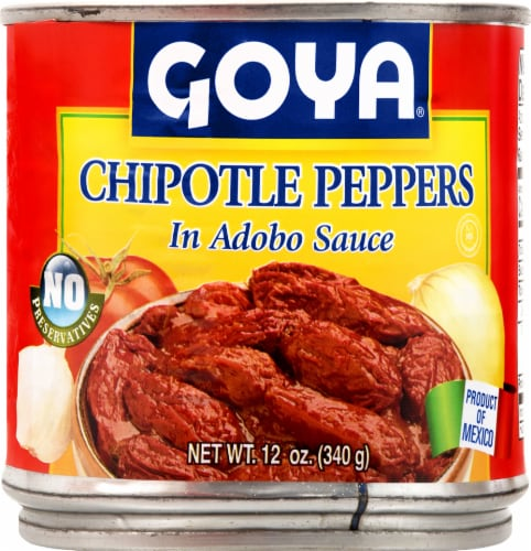 Goya Chiles Chipotles Peppers Perspective: front