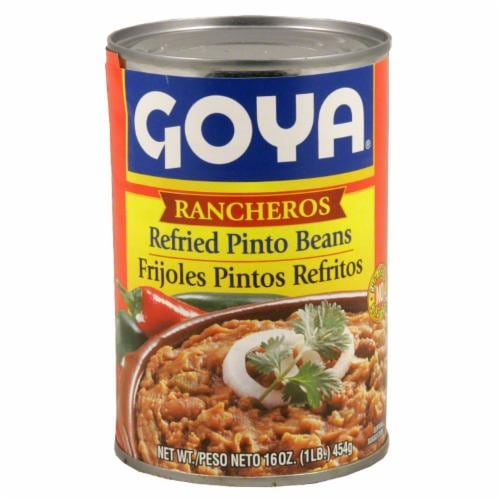 Goya Rancheros Refried Pinto Beans Perspective: front