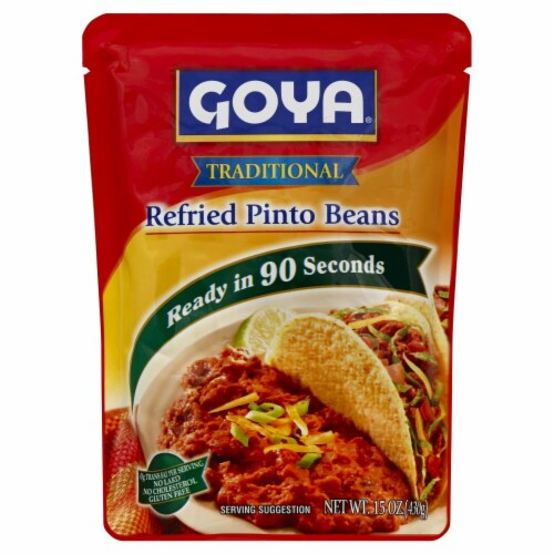 Goya Refried Pinto Beans Pouch Perspective: front