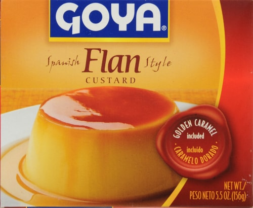 Goya Spanish Flan Style Custard Perspective: front