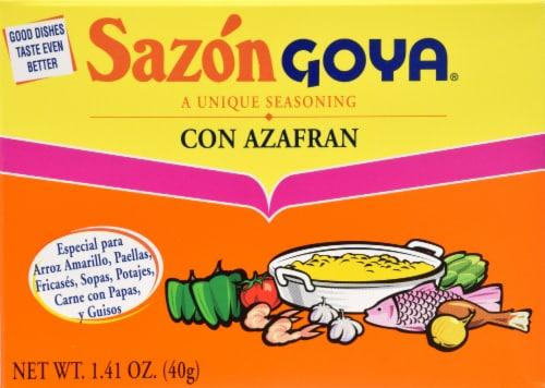 Goya Sazon Azafran Perspective: front
