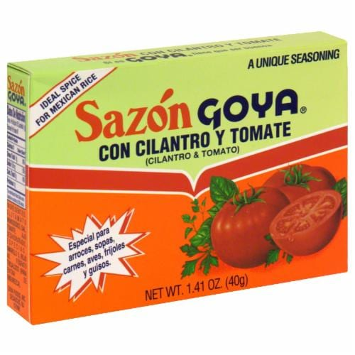 Sazon Goya with Cilantro & Tomato Perspective: front