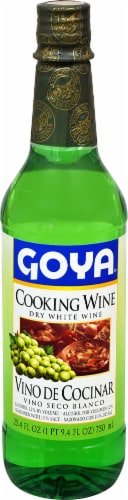 Goya Dry White Cooking Wine Perspective: front
