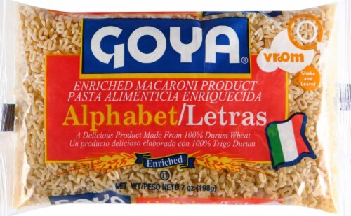 Goya Alphabet Pasta Perspective: front