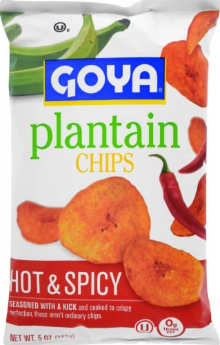 Goya Hot & Spicy Plantain Chips Perspective: front