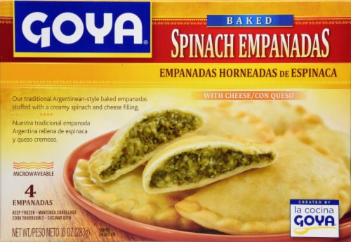 Goya Baked Spinach Empanadas with Cheese Perspective: front