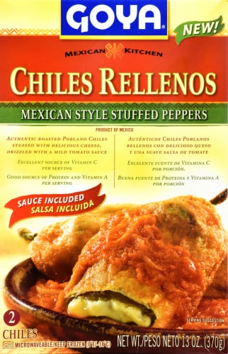 Goya Chiles Rellenos Mexican Style Stuffed Peppers Perspective: front